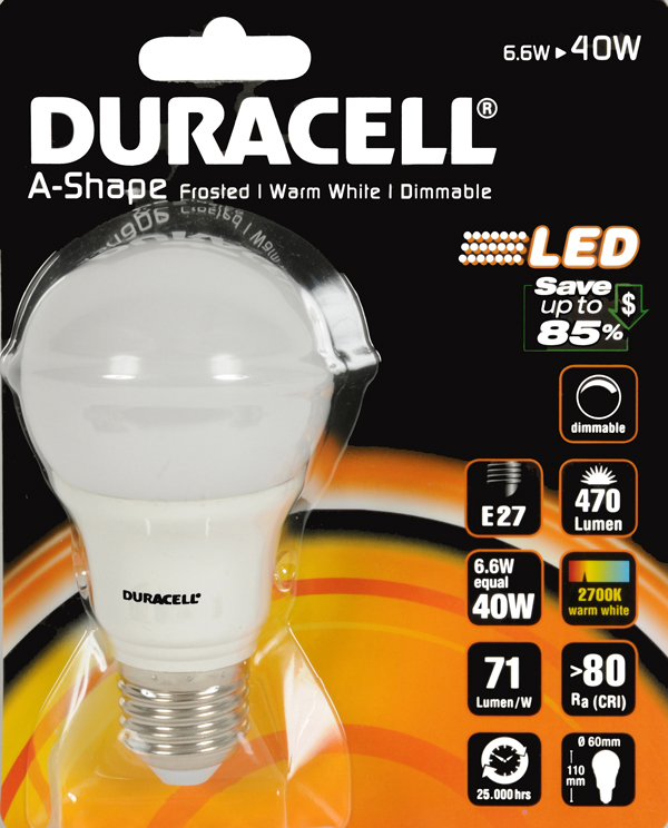 Duracell Dimbare LED-lamp 6,6W