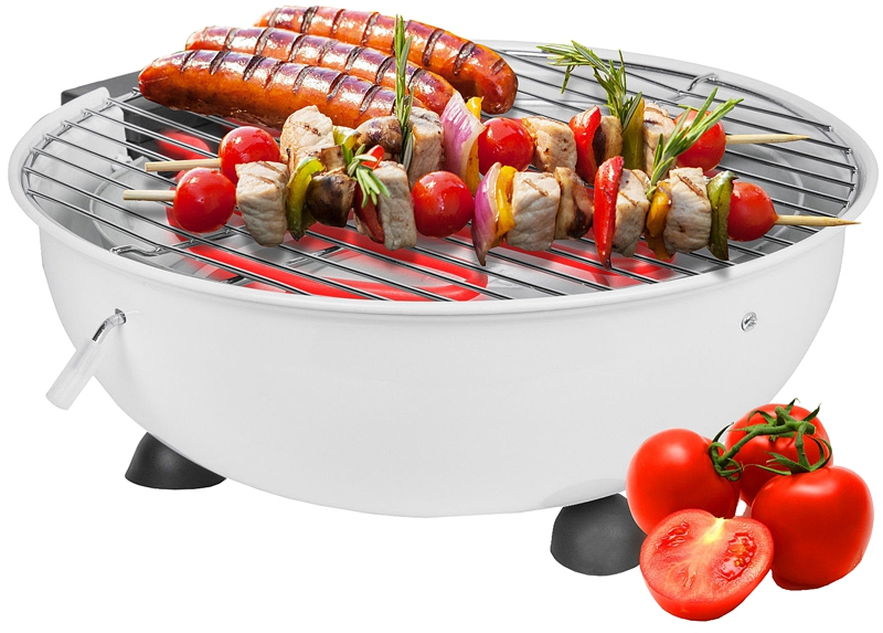 Elektrische tafel barbecue wit