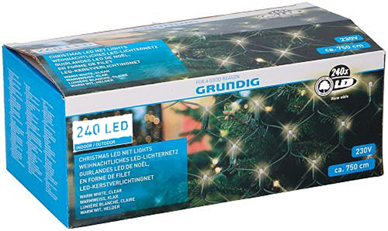 Netverlichting 240 LED - 250x100cm - warm wit