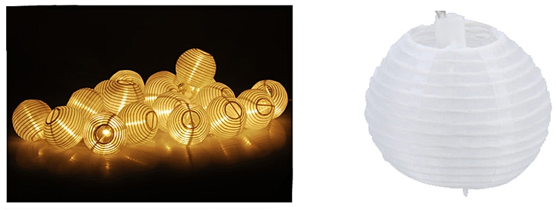 Feestverlichting 20 LED lampionnen