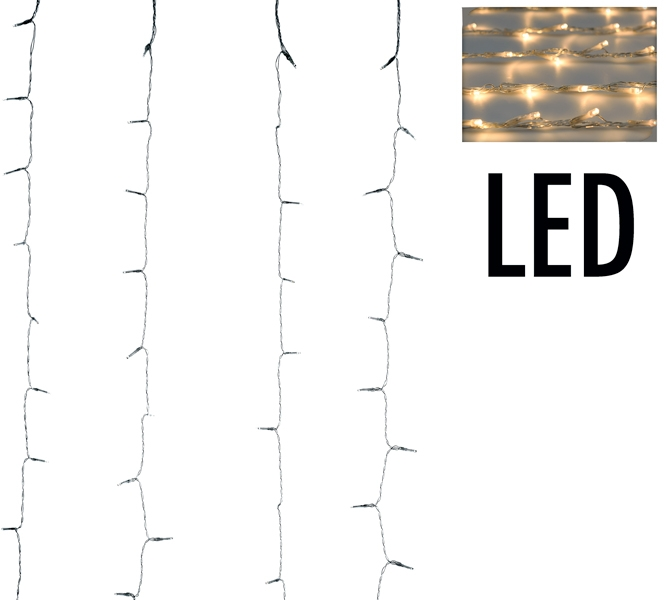 Gordijnverlichting - 220LED - 200x100cm - warm wit