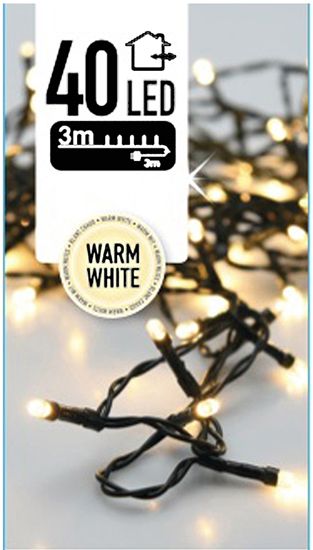 Kerstverlichting 40 LED's 3 meter warm wit