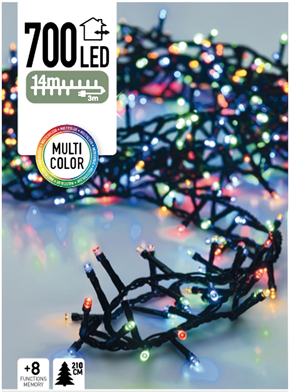 Micro Cluster 700 LED's 14 meter multicolor