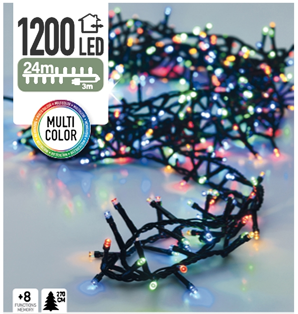 Micro Cluster 1200 LED's 24 meter multicolor