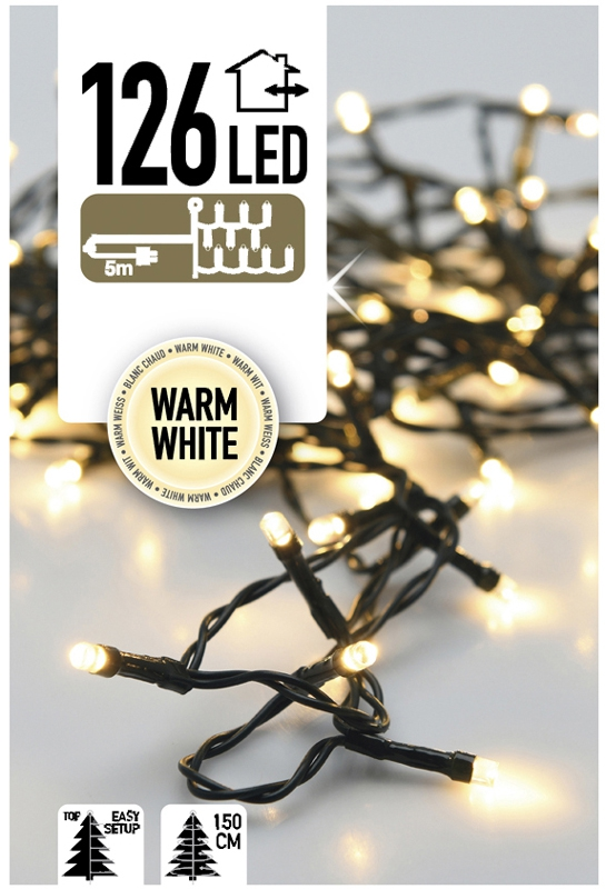 Easy Setup Kerstboomverlichting 126 LED's warm wit
