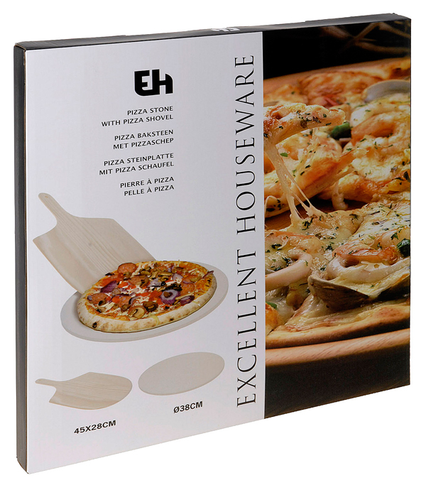 Pizza-baksteen met pizza-schep